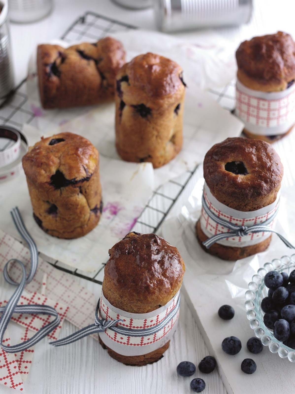 Christmas Spiced Blueberry Panettones...
