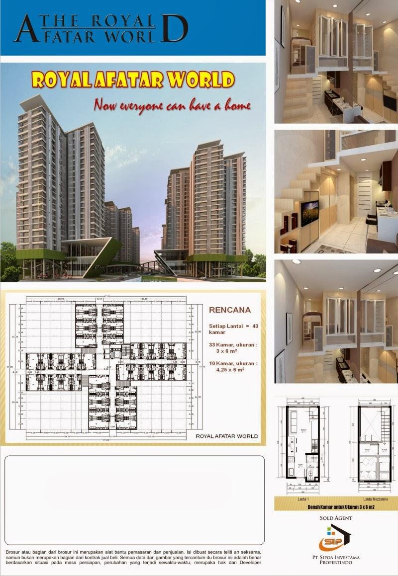 Desain Penampakan Gedung Apartemen Royal Afatar Surabaya