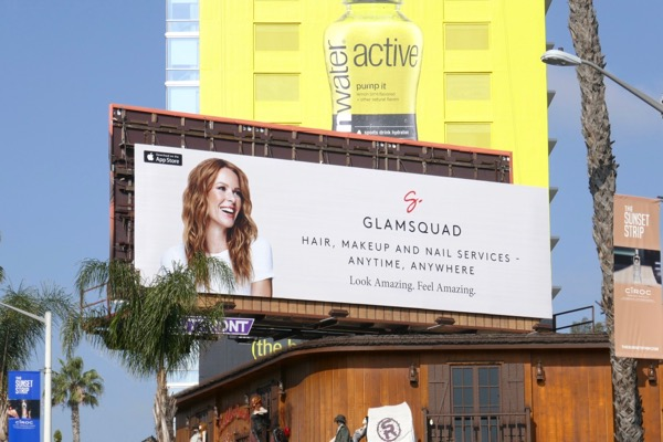 Glamsquad app billboard