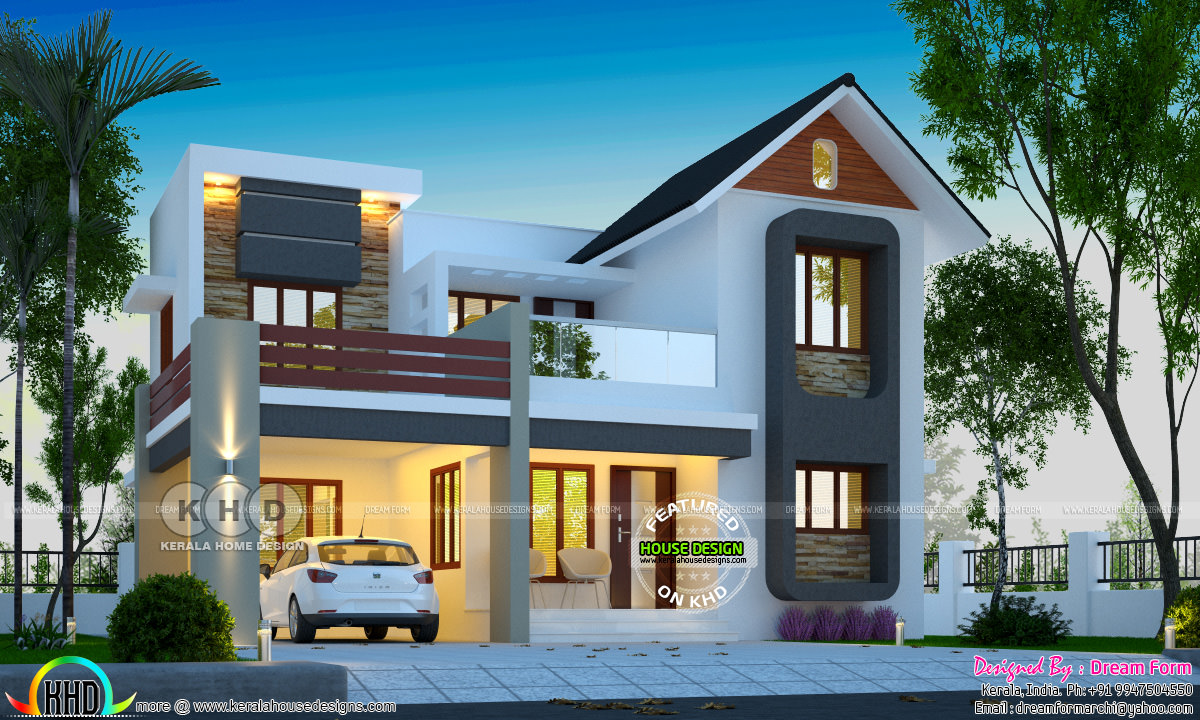 2017 - Kerala home design and floor plans