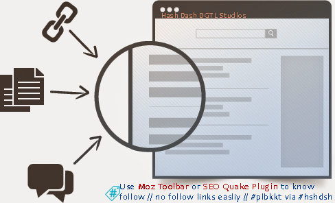 Use #Moz #toolbar or #SEOQuake #plugin to know follow // nofollow links via #hshdsh
