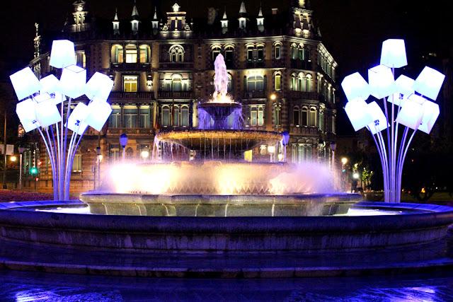 White Night lights in Bilbao, Spain - London travel blog