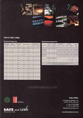 Spesifikasi Teknis Besi Beton MASTER STEEL