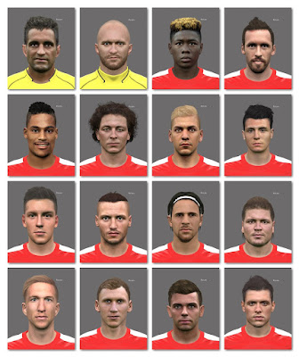 PES 2016 FACEPACK AUSTRIA EURO 2016 (16 Players)