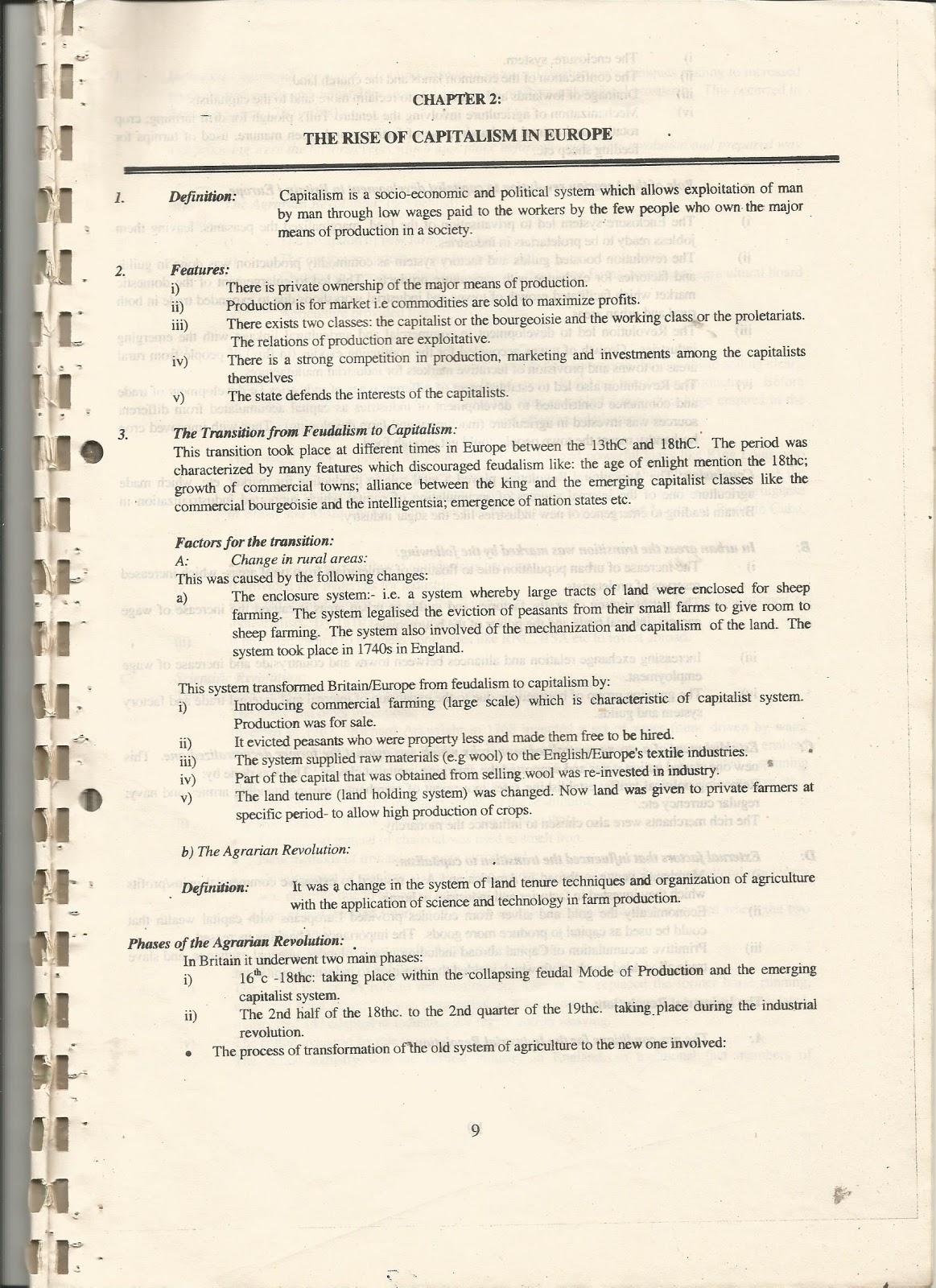 MWL JAPHET MASATU BLOG: HISTORY PAPER II -- THE RISE OF