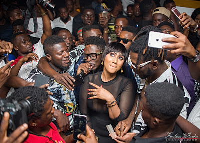 PHOTOS : SHATTA WALE & BURNA BOY THRILL PATRONS OF HAJIA4REAL'S GLOBAL WAVE PARTY