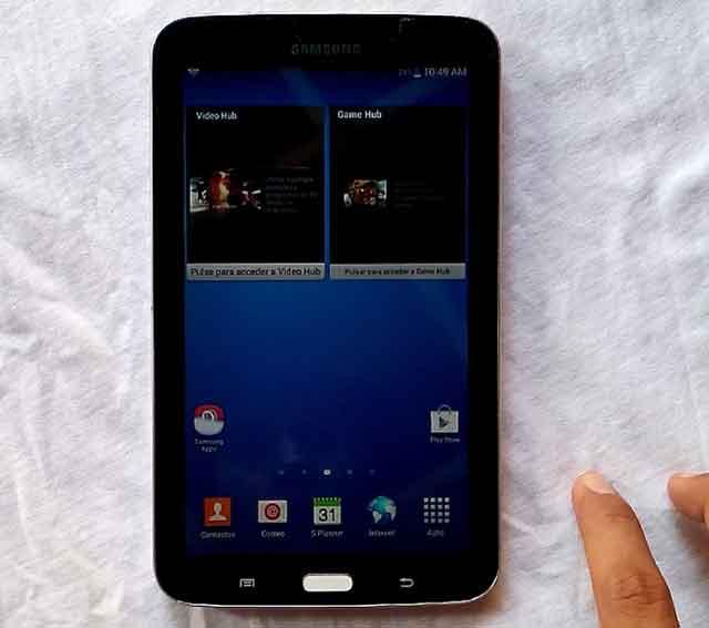 configuracion tablet samsung galaxy tab