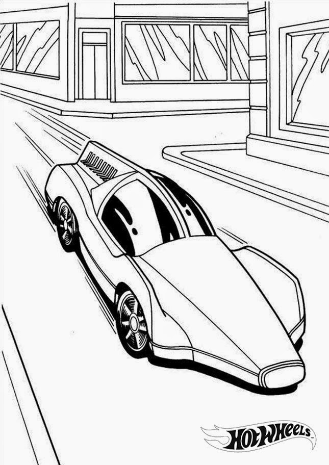 Hot Wheels Racing League: Hot Wheels Coloring Pages - Set 1