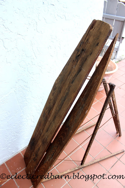 Eclectic Red Barn: Old ironing board