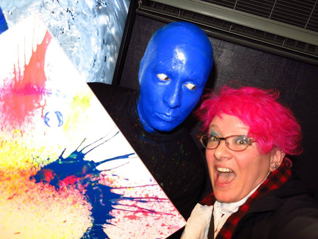 Blue Man Fan Pink Light Images