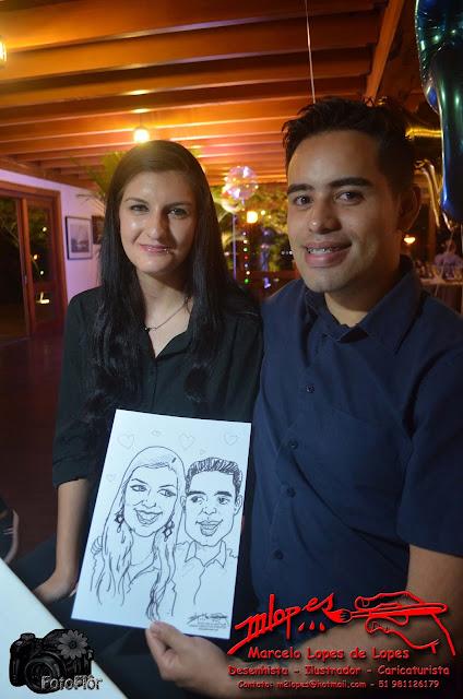 Caricaturas ao vivo com o Desenhista Marcelo Lopes de Lopes #R$50MM