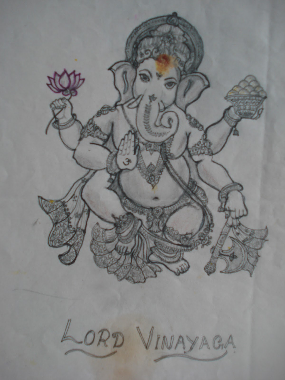 Vinayagar drawing pictures pencil sketch