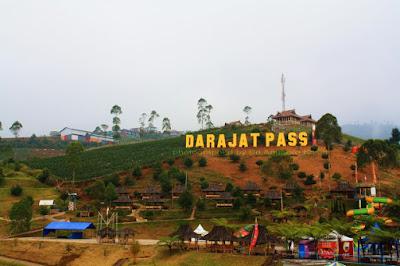 Obyek wisata Darajat Pass Garut.