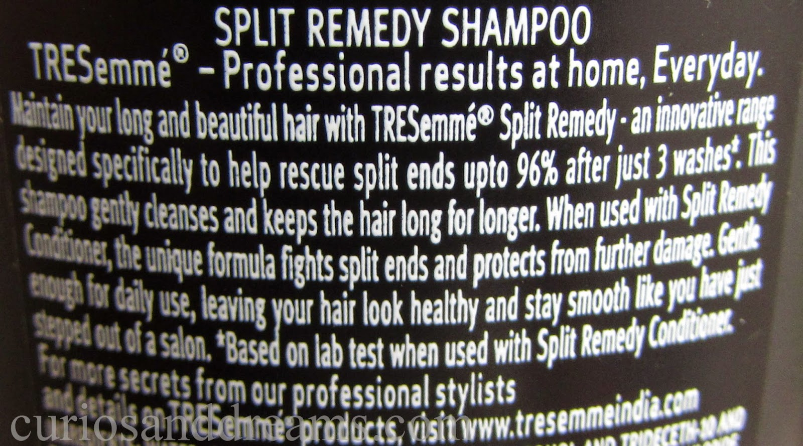Tresemme Split Remedy Shampoo and Conditioner Review, Tresemme Split Remedy Shampoo review, Tresemme Split Remedy conditoner review