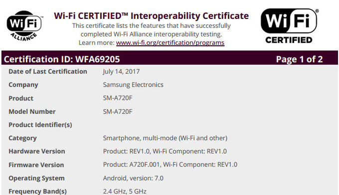 Certified Samsung Galaxy A7 2017
