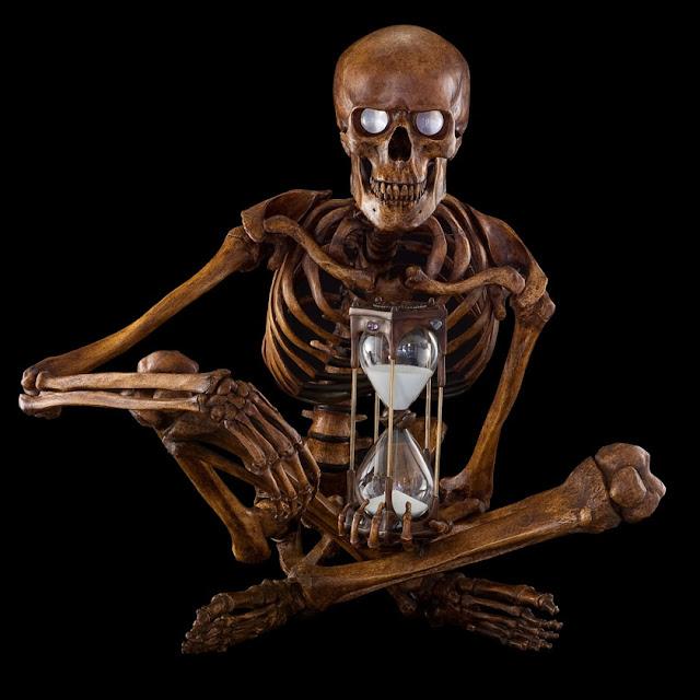 Jean-Marc Laroche - Vanitas skelet med timeglas