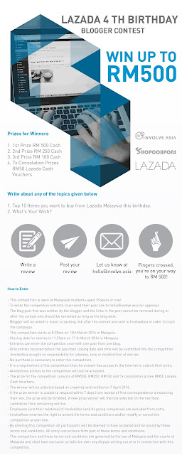 Lazada 4th Birthday - Blogger Contest Malaysia 2016