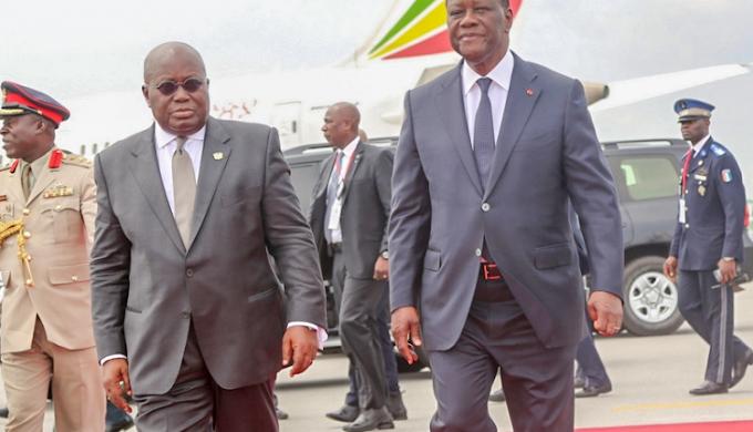 Ivorian President Alassane Dramane Ouattara visits Ghana Monday