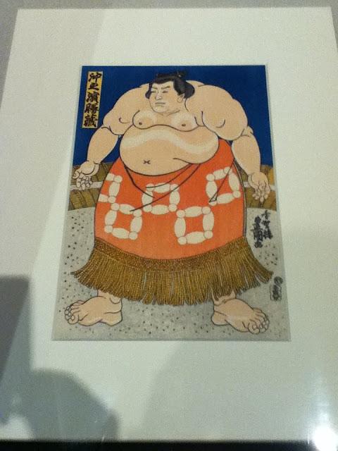 Ukiyo-e de un sumo en el museo de Edo Tokyo