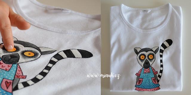 lemur kata malované tričko