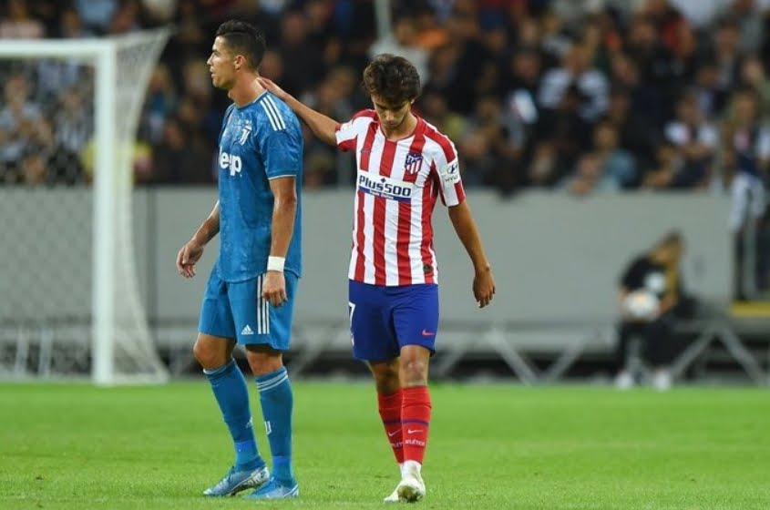 Atletico Madrid Juventus è finita 2-1, favolosa doppietta di Joao Felix, Khedira per i Bianconeri.