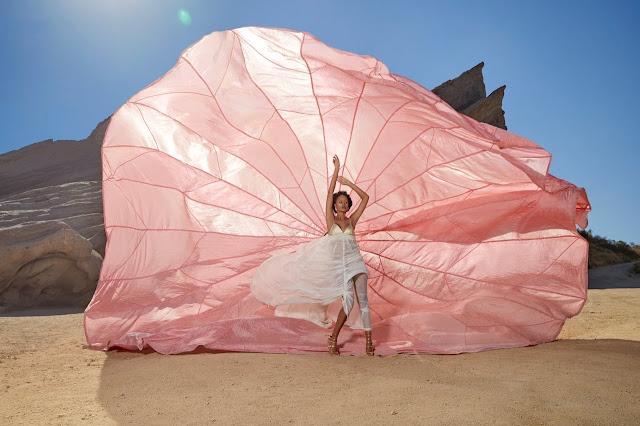 Эрин Грин покорила себе парашют, ветер и пески пустыни, фотограф Питер Хенкет.