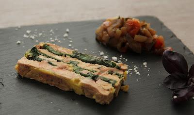 marbré foie gras , ratatouille, basilic, noel
