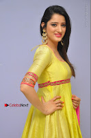 Actress Richa Panai Latest Pos in Yellow Anarkal Dress at Rakshaka Bhatudu Telugu Movie Audio Launch Event  0009.JPG