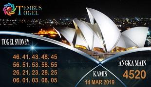 Prediksi Angka Togel Sidney Kamis 14 Maret 2019