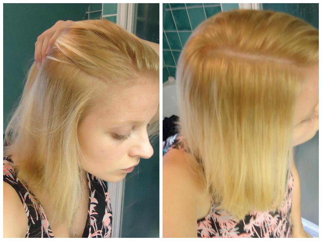 éclaircissant cheveux blond doré