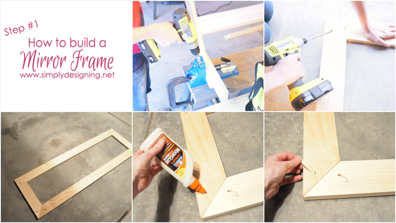 How to Build a Framed Mirror| this project is is sooooooo cool!!  | #diy #organization #jewelry #homeimprovement #homedecor #spon