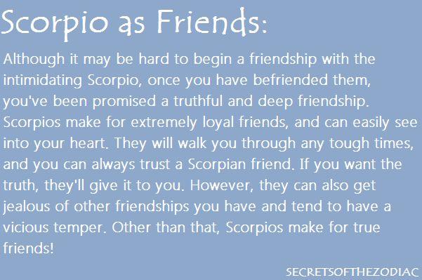 Scorpio friendship