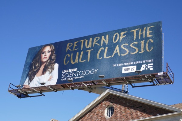 Leah Remini Scientology cult classic billboard