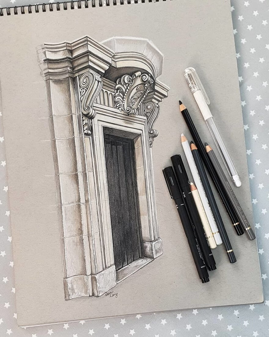 04-Stone-Door-Demi-Langdoes-Drawings-of-Architectural-Details-and-Buildings-www-designstack-co