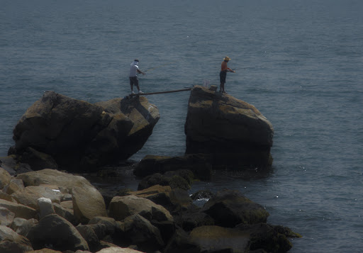 Fishermen at Bluff Point, Groton Connecticut
