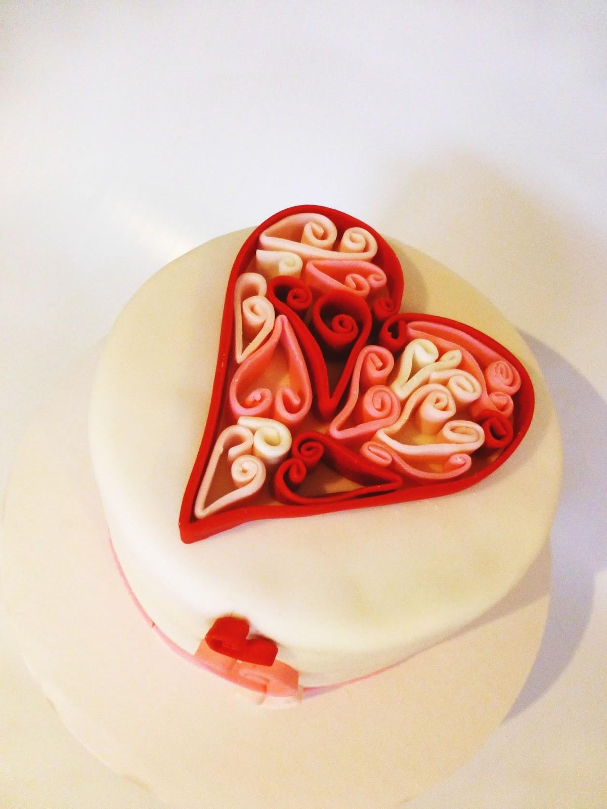 Love Anniversary Cake Design : CakeSophia: 12th wedding anniversary cake