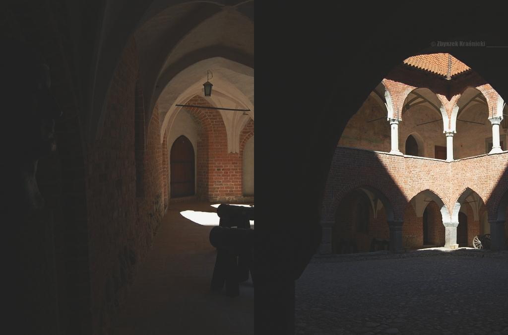 Dziedziniec zamku biskupiego w Lidzbarku Warmińskim