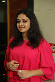 Actress Arundathi Nair Stills in Red Chididar at Bethaludu Success Meet  0014.JPG