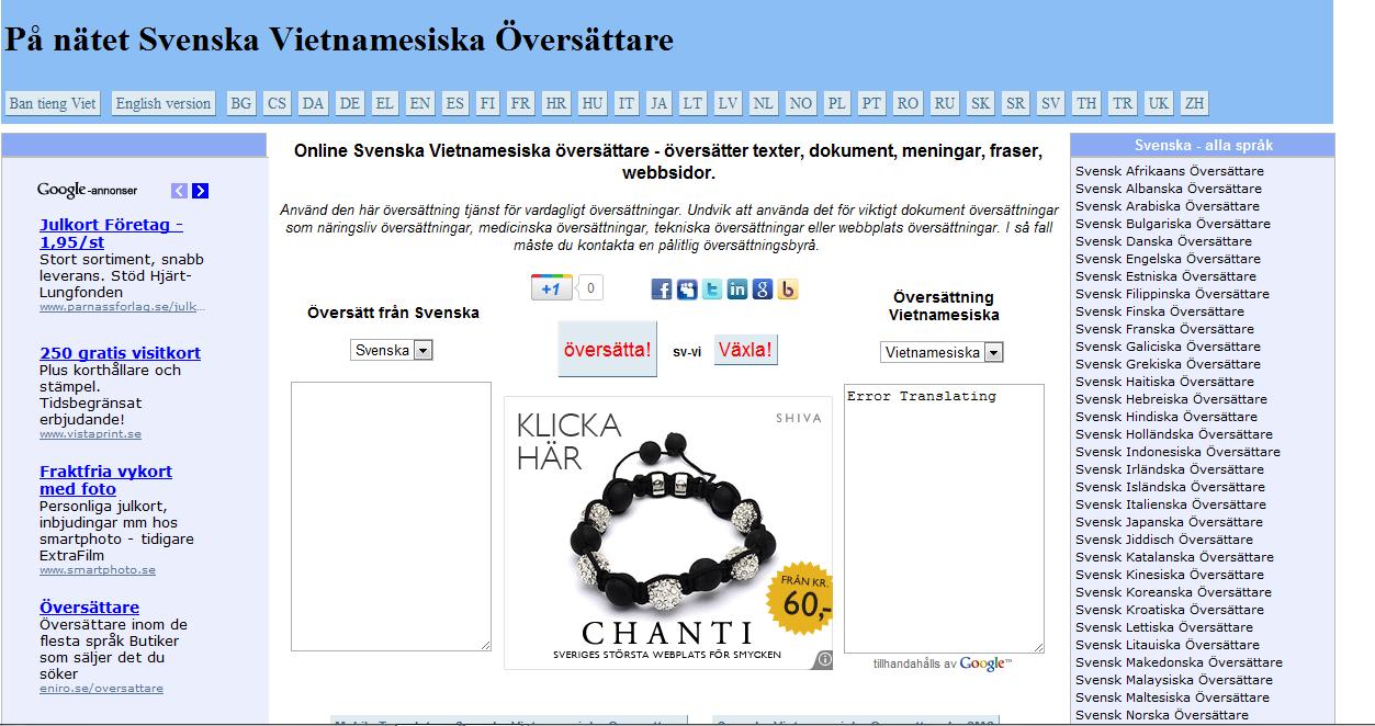 google översättning svenska till bosniska