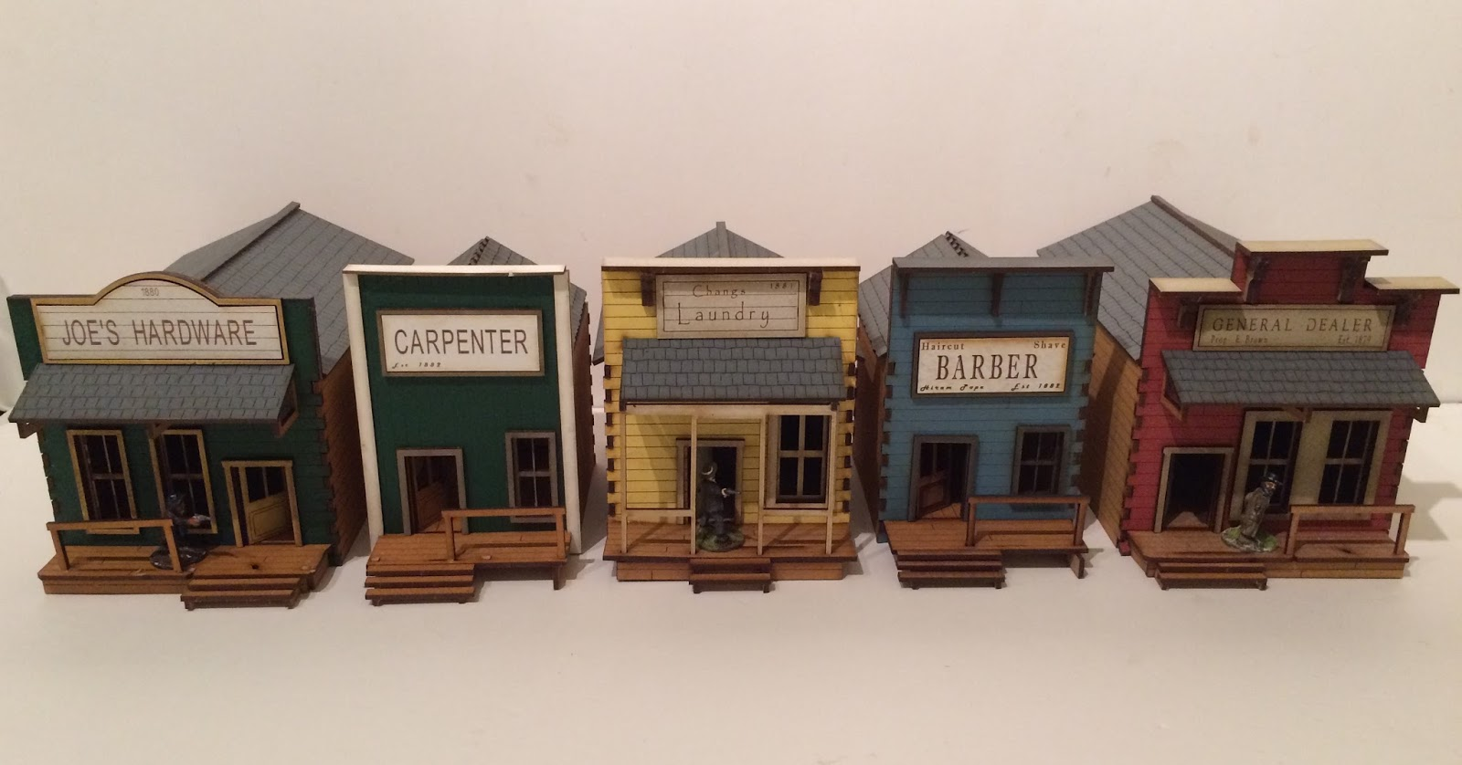 Empires at war blog 28mm set of 5 ready made old west for Architecture for sale