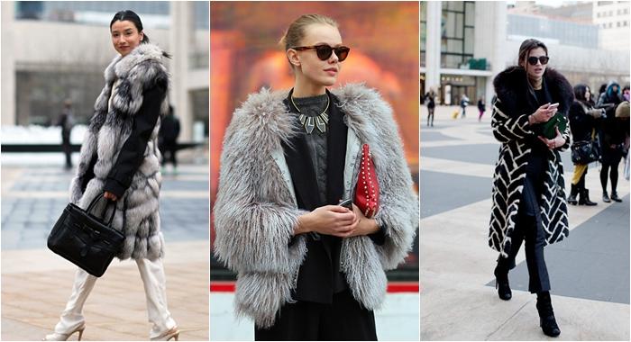 New York Street style fur coats