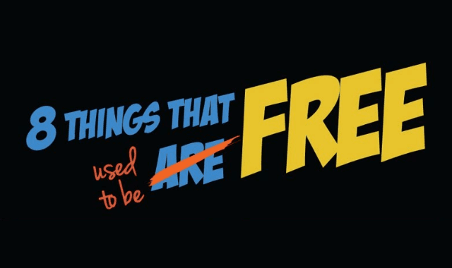 8 Things That Used to be Free