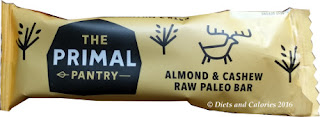 Primal Pantry  Almond & Cashew Raw Paleo Bar