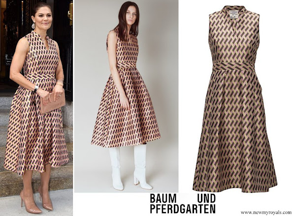 Crown Princess Victoria wore Baum und Pferdgarten Albani dress