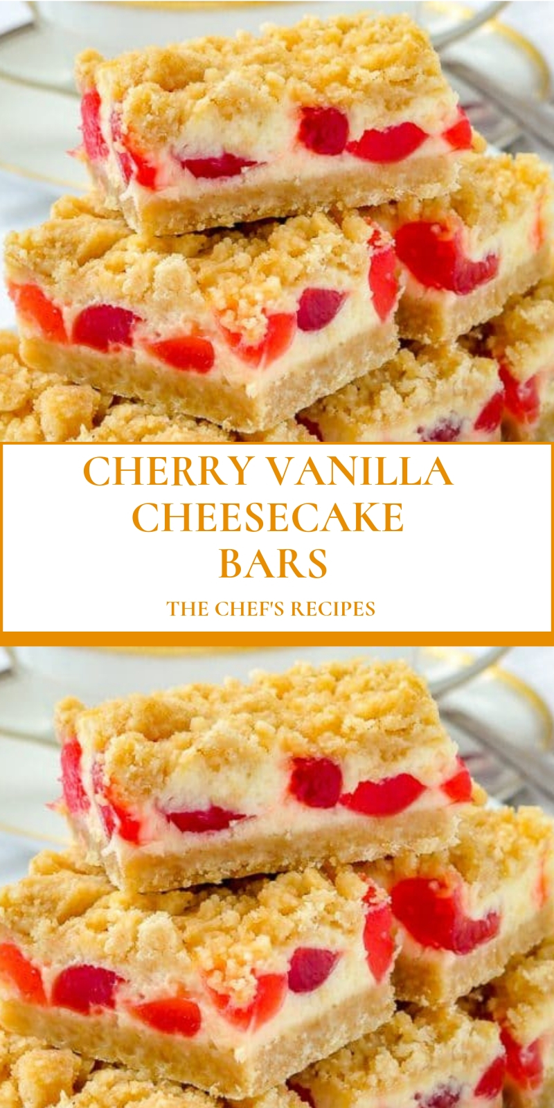 CHERRY VANILLA CHEESECAKE BARS