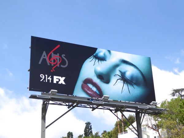 American Horror Story season 6 spider eyelashes billboard