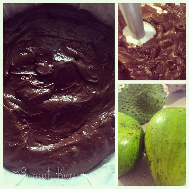 sweetkwisine, chocolat, brownie, sans lactose, avocat, végétarien, ganache à l'avocat, avocado, cake