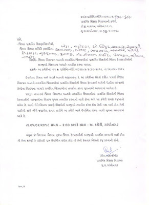 जिल्ला विभाजन के बाद नव रचित जिल्ला मा प्राथमिक शिक्षकों की जिल्ला फेर बदली ओ की अर्जी विकल्प के आधार पर तब्दील करने हेतु प्रत्र