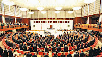 Türkiye Büyük Millet Meclisinde milletvekilleri saygı duruşundayken