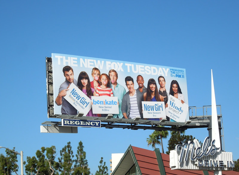 Fox Tuesday comedy billboard
